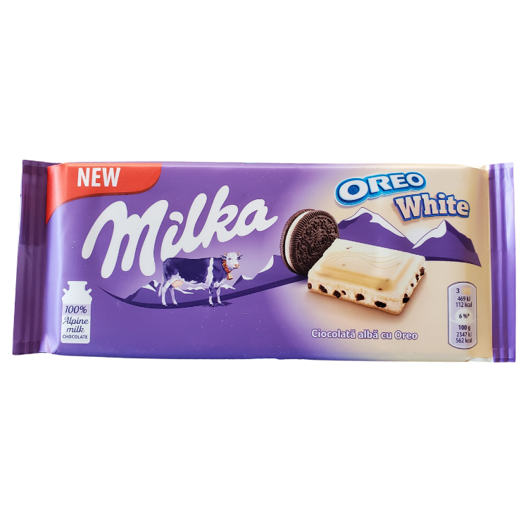 Milka Oreo White | 100 g | Box 22