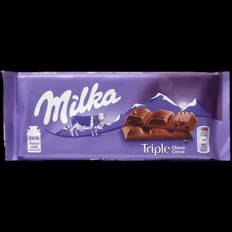 Milka Triple Choco Cocoa | 90 g | Box 20
