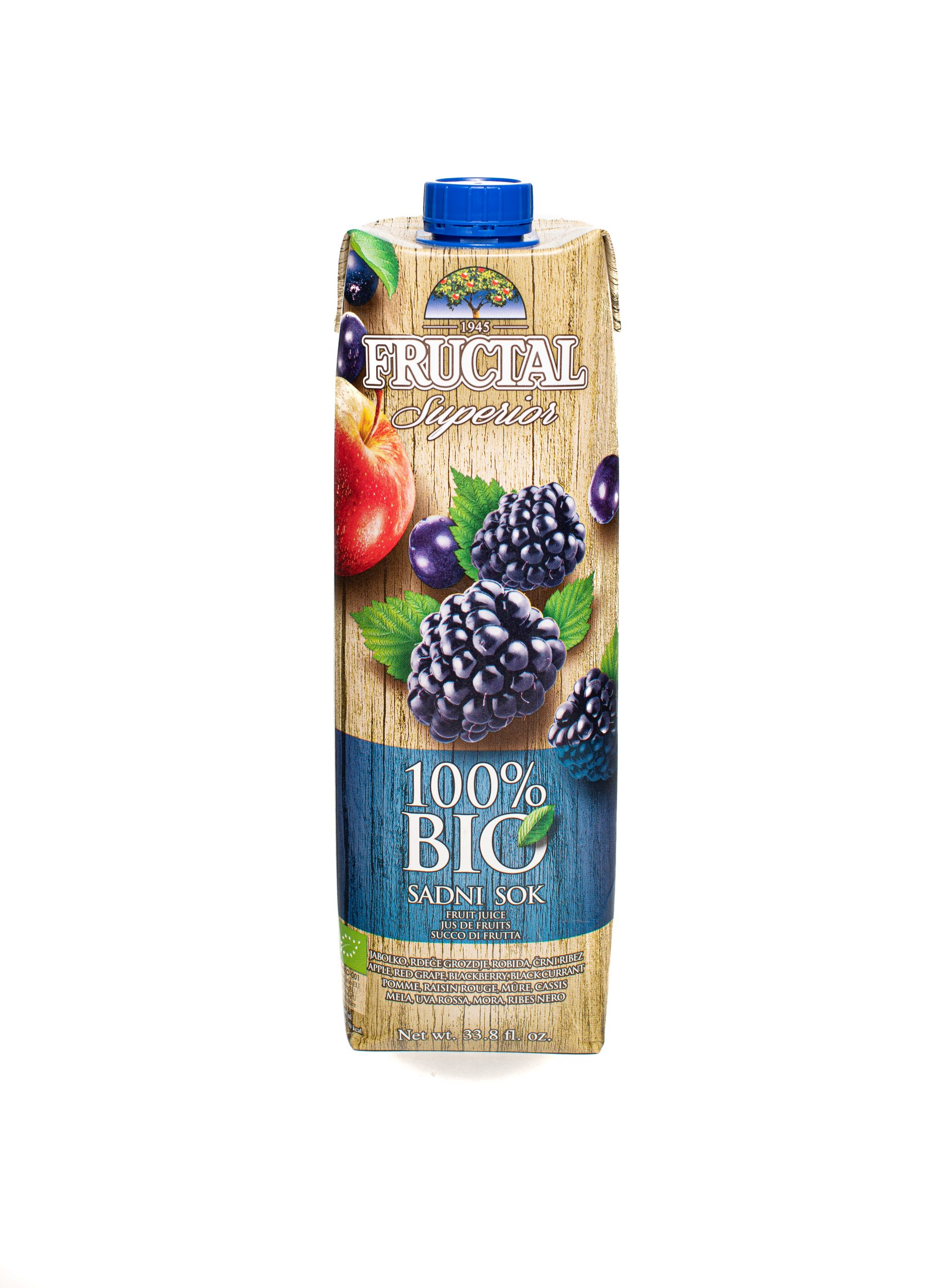 Fructal Superior Organic | 1L | No Sugar Added | Blackberry