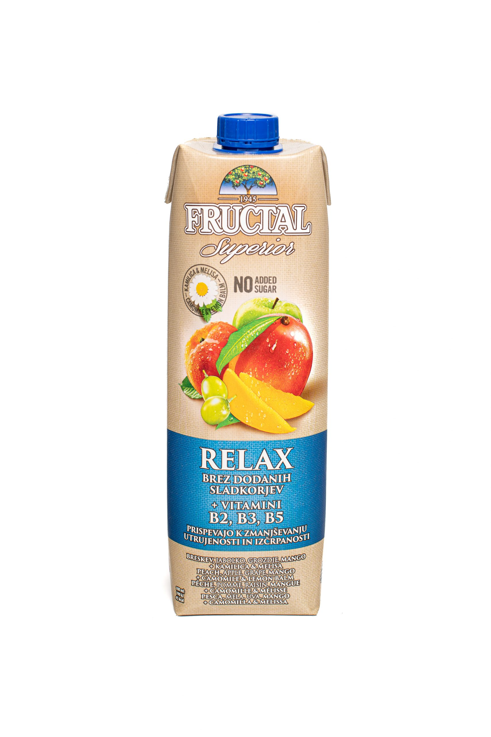 Fructal Superior Organic | 1L | No Sugar Added | Relax