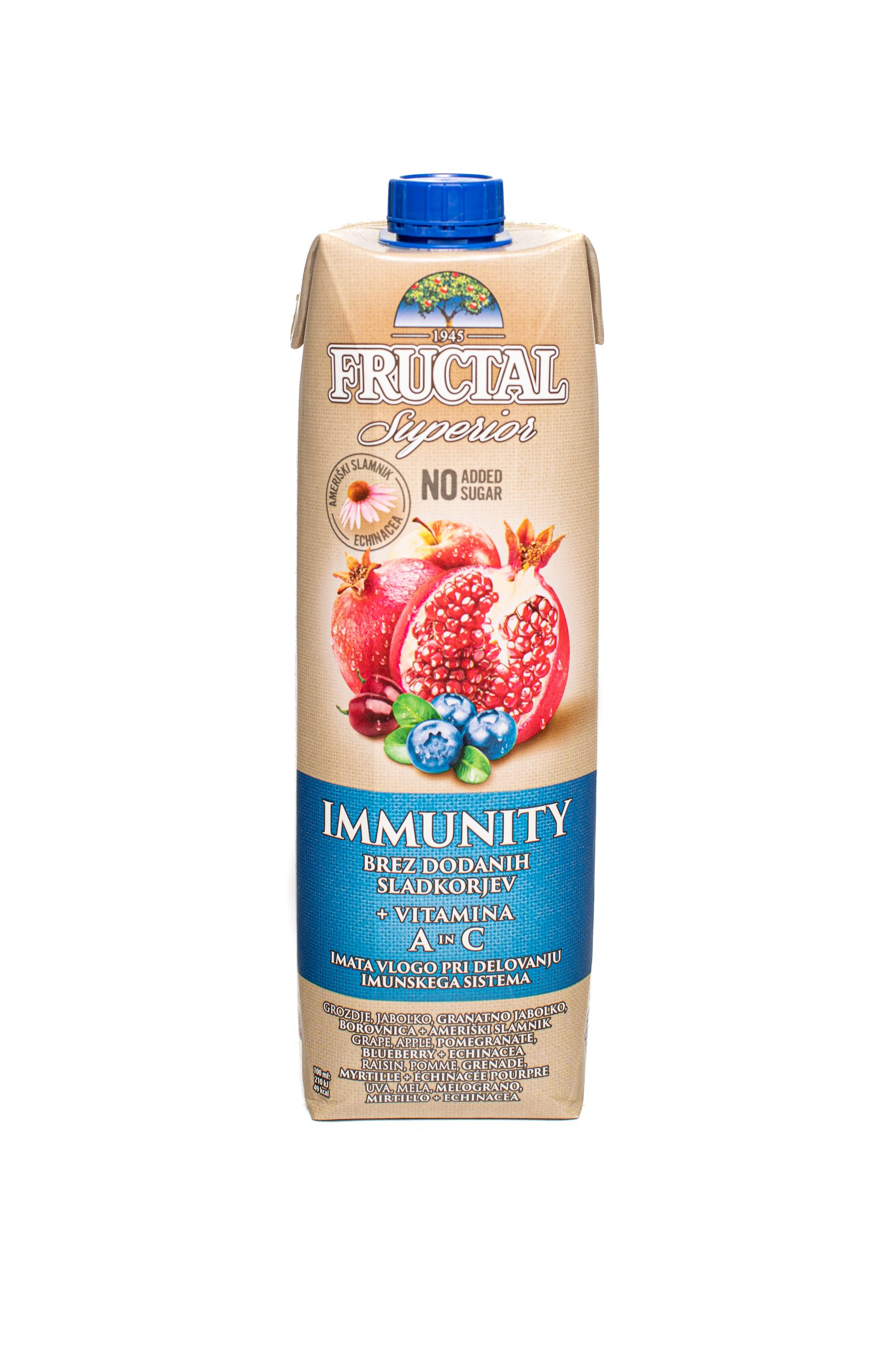Fructal Superior Organic | 1L | No Sugar Added | Immunity