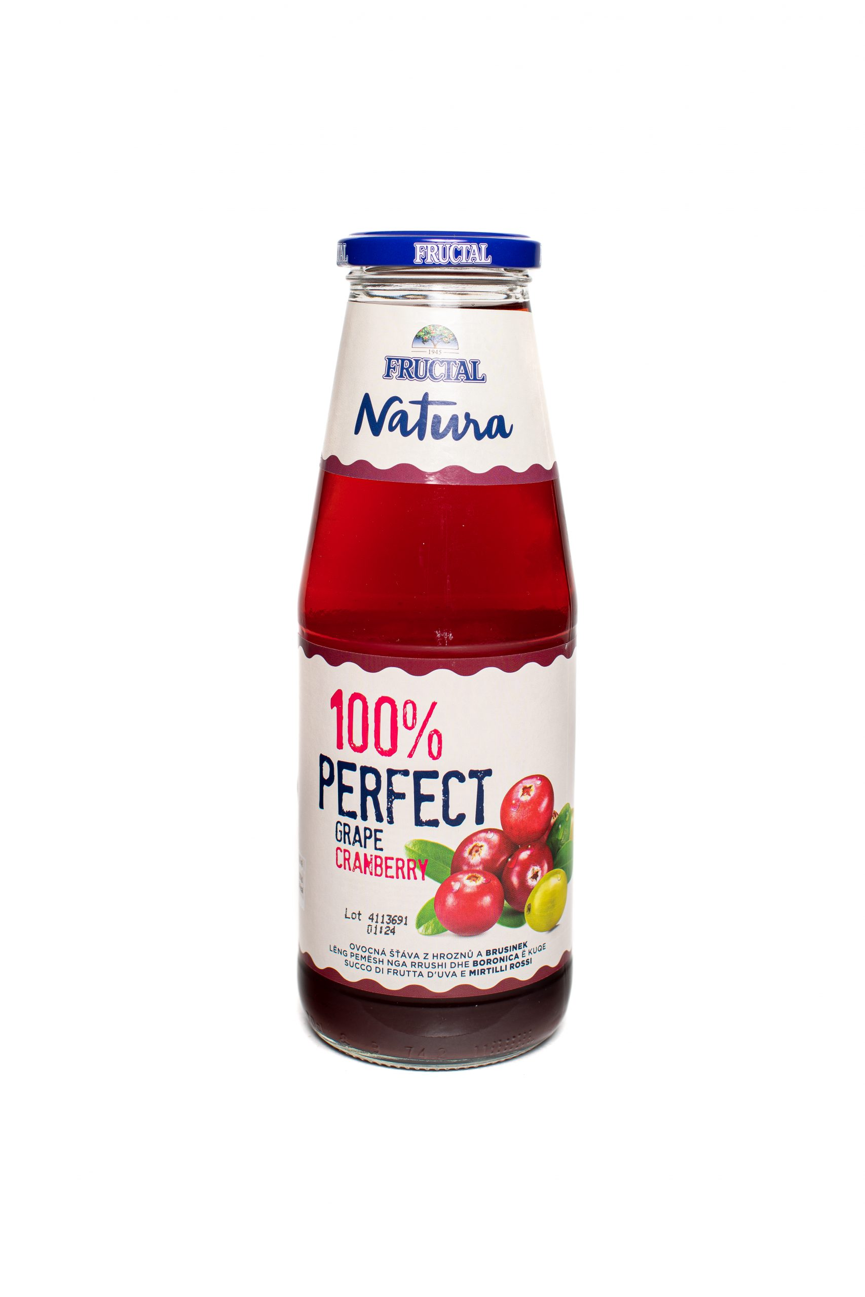 Fructal Natura 100% | 700ml | Glass | Cranberry