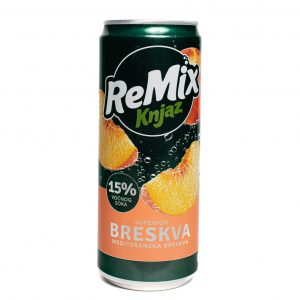 Knjaz Milos_ReMix 330mL-Can_Peach_Front