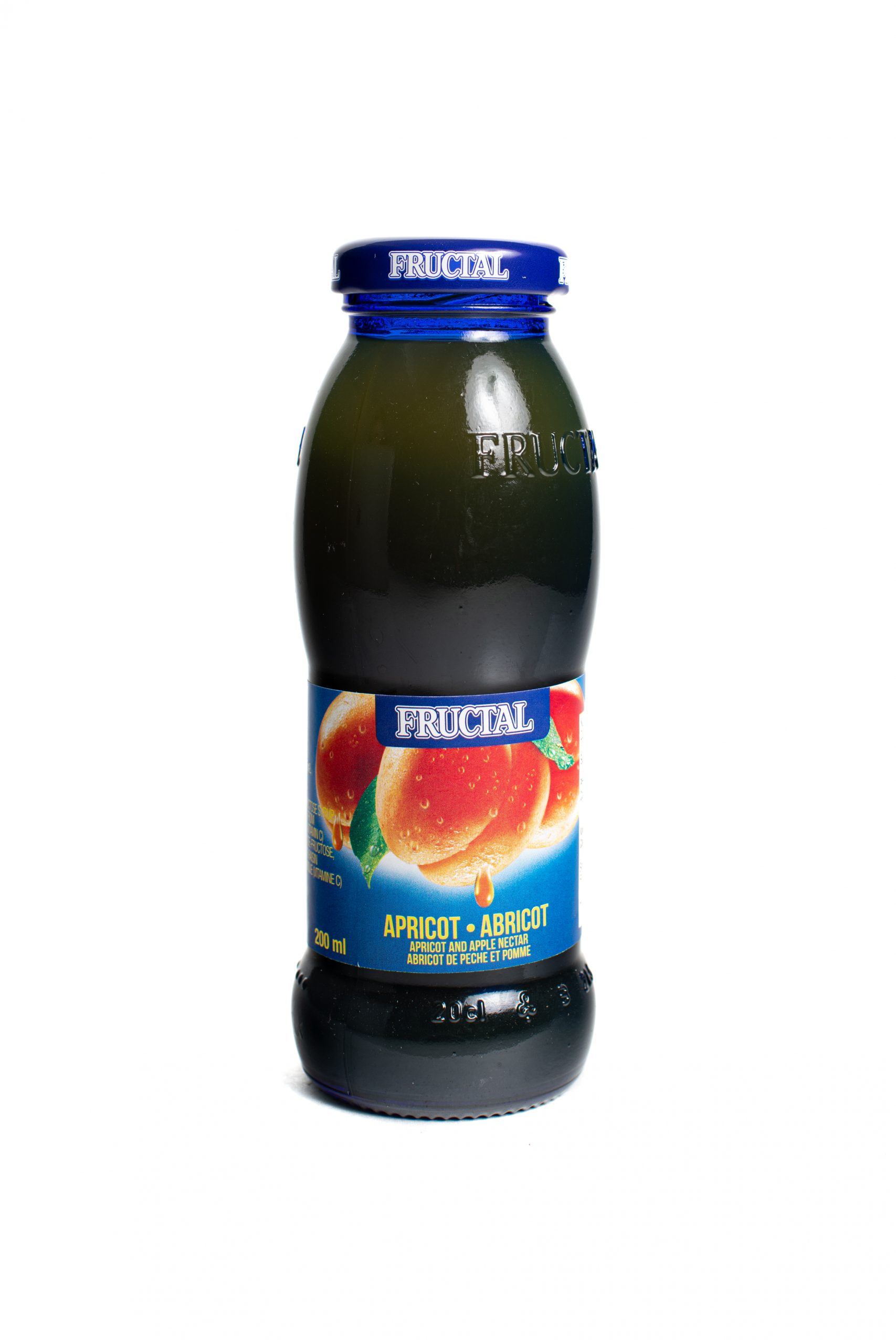 Fructal Blue Bottle | 200 ml | Glass | Apricot