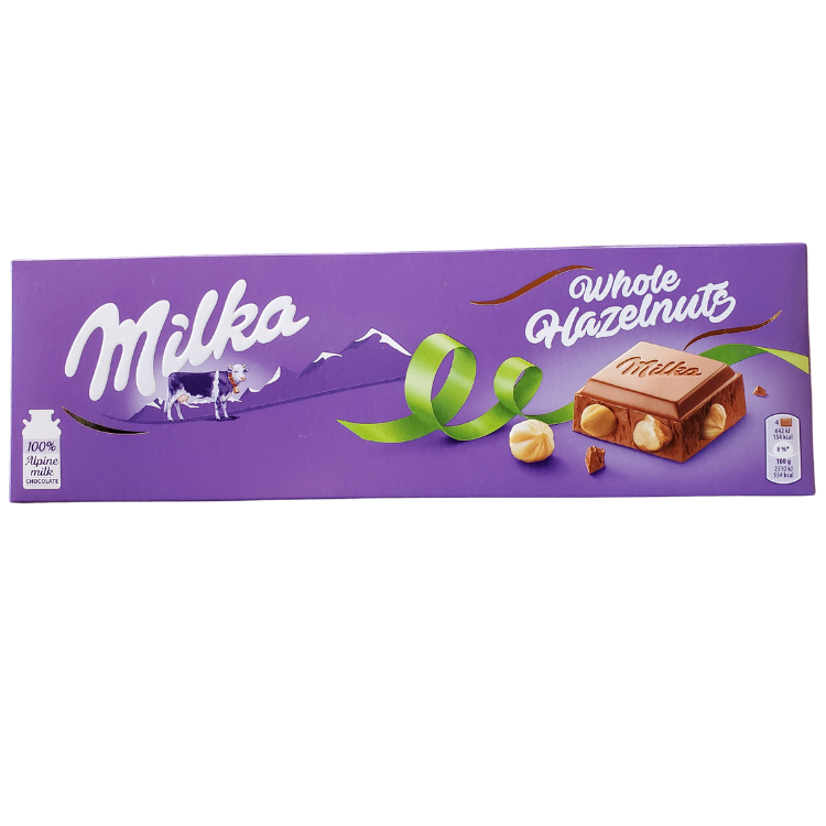 Milka Whole Hazelnut Chocolate | 250 g | Box 12