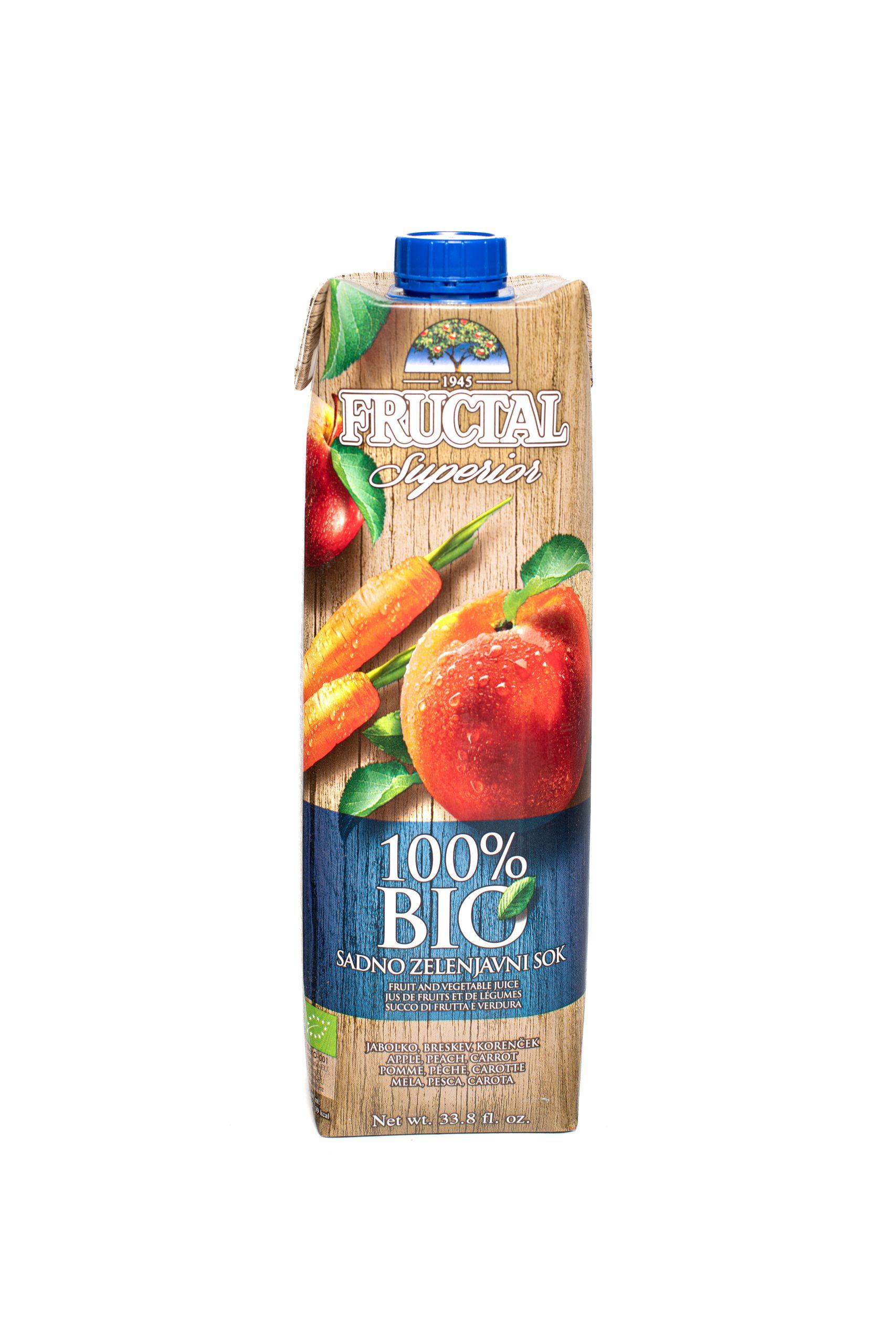 Fructal Superior Organic | 1L | No Sugar Added | Peach