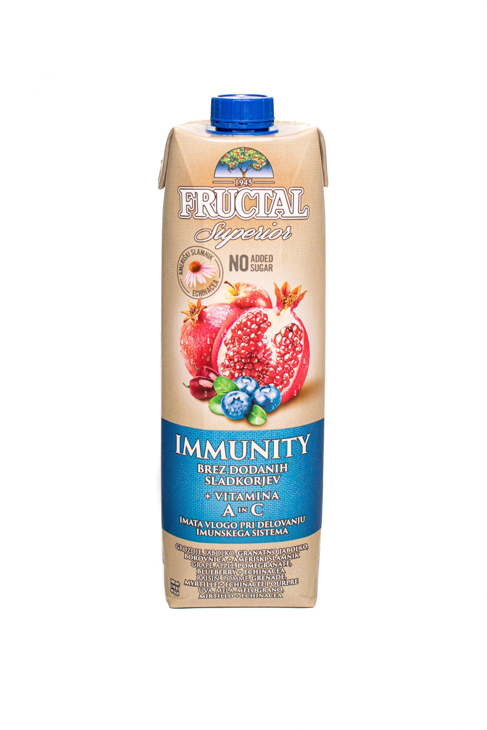 Fructal Superior Organic | 1L | No Sugar Added | Immunity