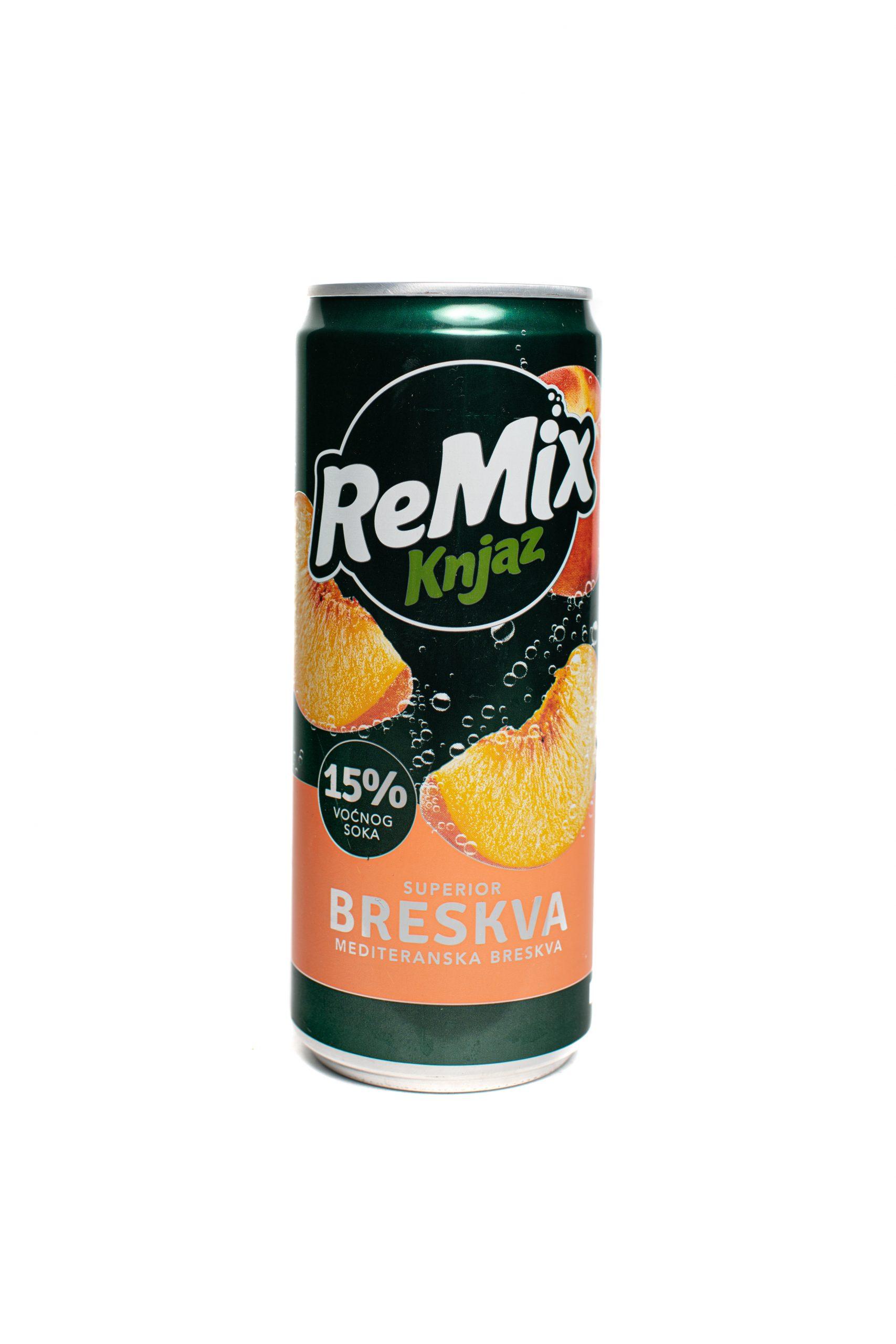 Knjaz ReMix | Peach | 330mL | Can | 12pack