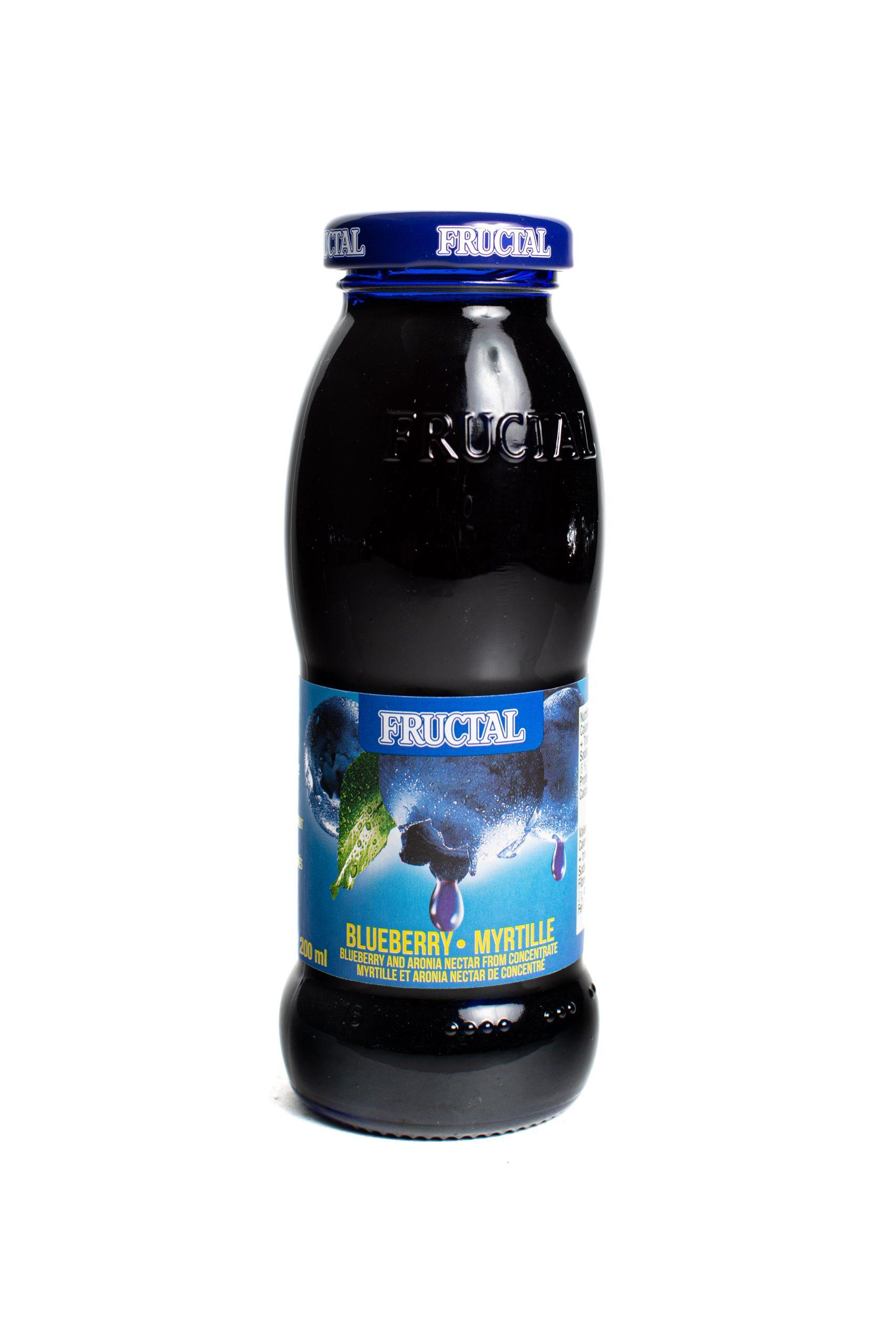 Fructal Blue Bottle | 200 ml | Glass | Blueberry